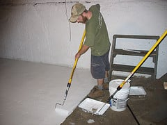 Painting a basement floor