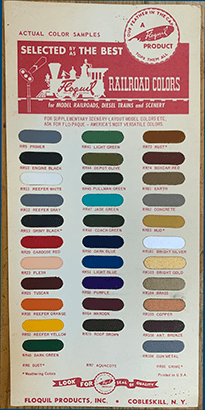 Floquil Railroad Paint Color Chart