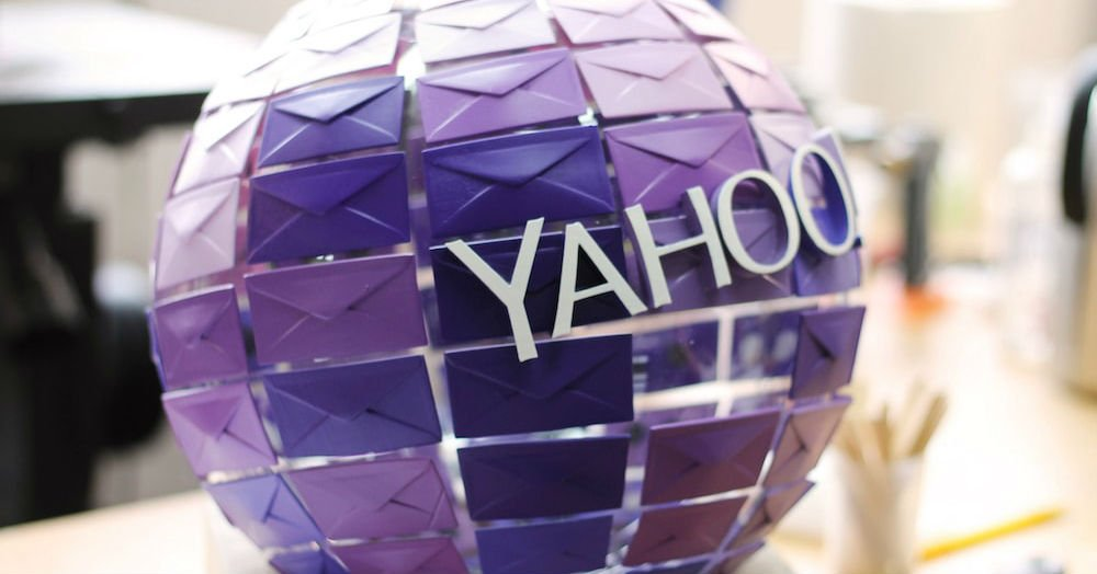 Purple 3D printed yahoo mail globe