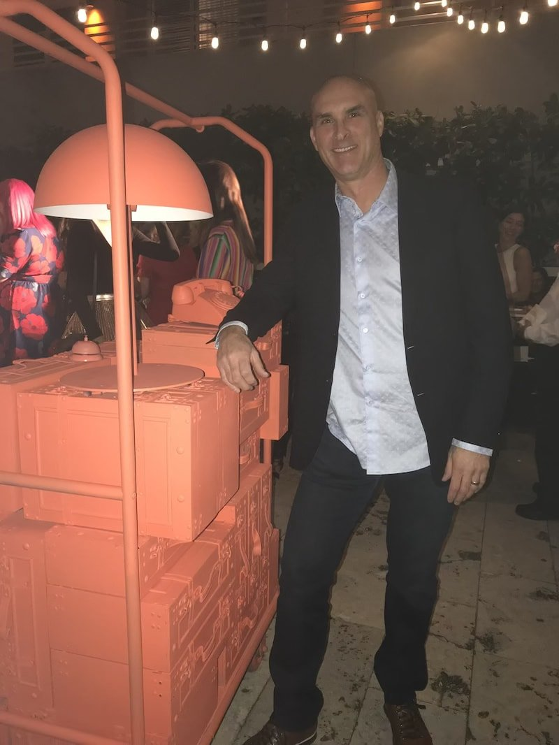 Jason Shaw MyPerfectColor CEO at Pantone 2019 Color of the Year 16-1546 TPX Living Coral Event in Miami FL