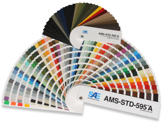 US Government Aerospace Material Specification 595 Paint Colors